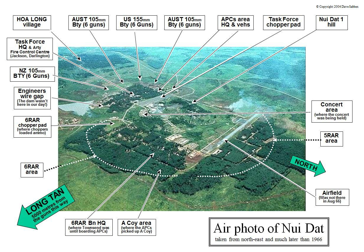 Maps Vietnam And Nui Dat The Battle Of Long Tan