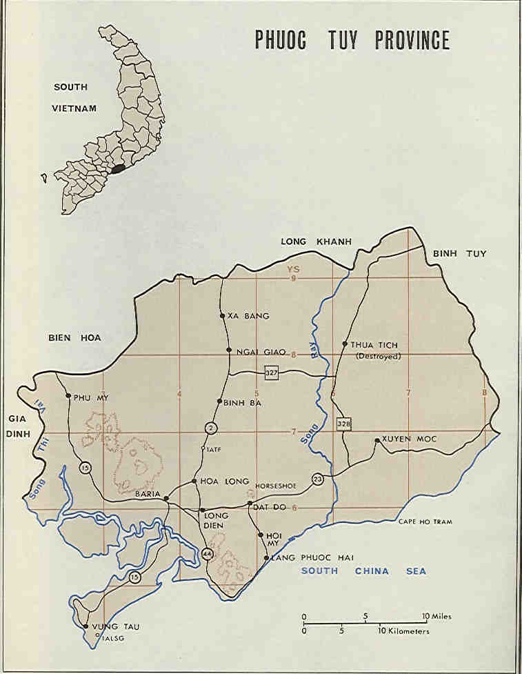 Maps - Vietnam and Nui Dat - The Battle of Long Tan
